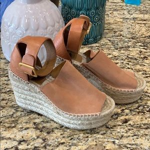 Chloe Suede Wedges size 36